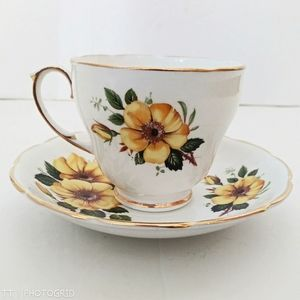 Vintage Duchess China floral print teacup & saucer